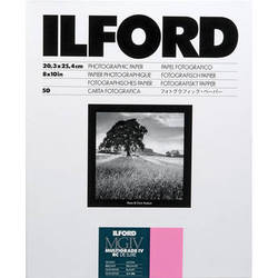 "Ilford Multigrade IV RC Deluxe MGD.1M Black & White Variable Contrast Paper (8 x 10"", Glossy, 50 Sheets)"
