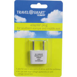 Travel Smart by Conair NW1C Adapter Plug - 2-Prong USA with 2-Prong Europe (Ungrounded)