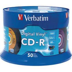 Verbatim CD-R Digital Vinyl Color Disc (50)