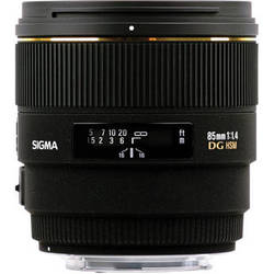 Sigma 85mm f/1.4 EX DG HSM Lens For Canon EOS Digital SLR Cameras