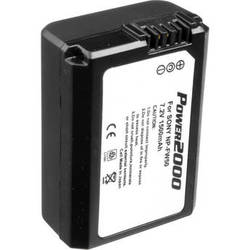 Power2000 Long Life Performance Sony NP-FW50 Type Lithium-Ion Rechargeable Battery (7.2V, 1500mAh)