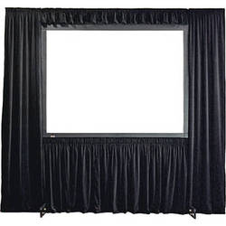 """Draper 384056 Dress Kit for StageScreen Projection Screen (Black Velour, 216 x 288"""")"""