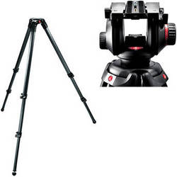 Manfrotto 504HD Video Fluid Head & 535 3-Section Carbon Fiber Tripod Kit