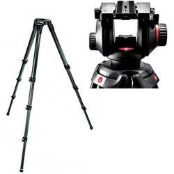 Manfrotto Manfrotto 504HD Video Fluid Head w/ 536 4-Section Carbon Fiber Tripod Kit