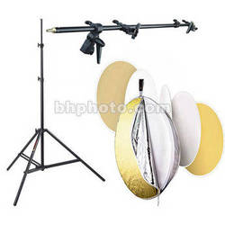 """Photoflex 42"""" 5-in-1 MultiDisc Reflector with Holder and Light Stand Kit"""
