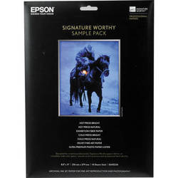 "Epson Signature Worthy Sample Pack (8.5 x 11"", 14 Sheets)"
