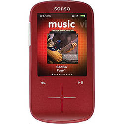 SanDisk 4GB Sansa Fuze+ MP3 Player Red