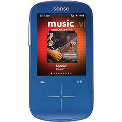 SanDisk 8GB Sansa Fuze+ MP3 Player Blue