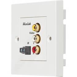 MuxLab 500049-WP-UK Stereo AV/IR Pass-Thru Wall Plate Balun (UK)