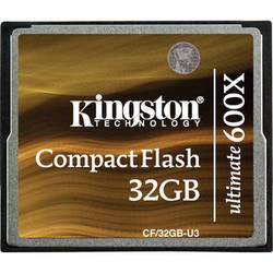 Kingston 32GB CompactFlash Memory Card Ultimate 600x