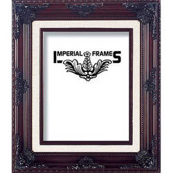 """Imperial Frames F324 Picture Frame (8 x 10"""", Wood with Gesso Covering, Brown)"""