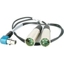 """Lectrosonics TA5-F to Dual XLR Output Cable for SR Slot-In Receiver (20"""" - 50.8cm)"""