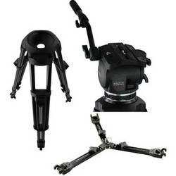 Cartoni Focus HD Fluid Head & Two-Stage Aluminum Alloy Smart Stop Tripod