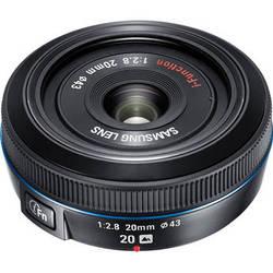 Samsung 20mm f/2.8 Pancake Lens for NX10 / NX100 (Black)