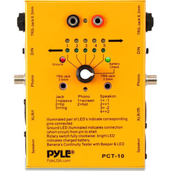 Pyle Pro PCT-10 8-in-1 Audio Cable Tester