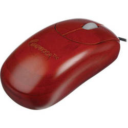 Impecca Custom Carved Designer Bamboo Mouse (Mahogany)