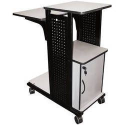 "H. Wilson WPS4CE Mobile Presentation Station with Cabinet - 18.25 x 38.5 x 34.5"" (Black/Gray)"