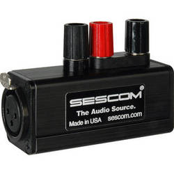 Sescom SES-MKP-21 Professional Female XLR to Binding Post Adapter