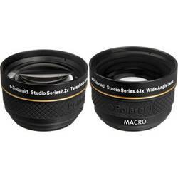 Polaroid Studio Series 37mm 2.2x Telephoto & 0.43x Wide Angle Lens Travel Kit