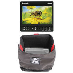 "Marshall Electronics 5"" HDMI On-Camera Monitor and Flat Screen Case Kit"
