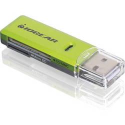 IOGEAR SD/microSD/MMC Card Reader/Writer (Green)