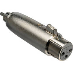 Comprehensive PP-XLRJ Male RCA to Female XLR Adapter