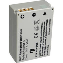 Pearstone NB-7L Lithium-Ion Battery Pack (7.4V, 875mAh)