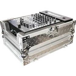 "Odyssey Innovative Designs FZ12MIXDIA Silver Diamond Plated 12"" Wide DJ Mixer Flight Zone Case (Silver)"