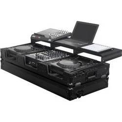 Odyssey Innovative Designs Black Label Remixer Glide Style Series: CD/Digital Media DJ Coffin (Black)
