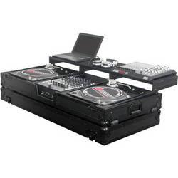 Odyssey Innovative Designs FZGSPBM12WBL Black Label Remixer Glide Style Series: Turntable DJ Coffin (Black)