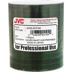 JVC 52x Recordable Inkjet Hub Printable CD-R (100-Pack Spindle)