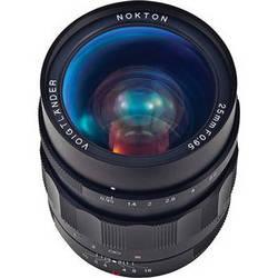 Voigtlander Nokton 25mm f/0.95 Lens for Micro Four Thirds Cameras