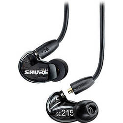 Shure SE215 Sound-Isolating In-Ear Stereo Earphones (Black)