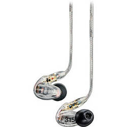 Shure SE315 Sound-Isolating In-Ear Stereo Earphones (Clear)