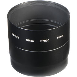 Bower 58mm Adapter Tube for Nikon COOLPIX P7000 / P7100 Digital Cameras