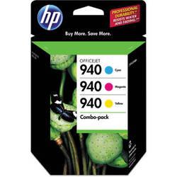 HP 940 Combo-pack Cyan/Magenta/Yellow Officejet Ink Cartridges