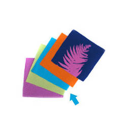 """Blue Sunprints Cyanotype Cotton Squares - 6 x 6"""" (50 Pack, Turquoise)"""
