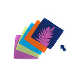 "Blue Sunprints Cyanotype Cotton Squares - 6 x 6"" (25 Pack, Raspberry)"