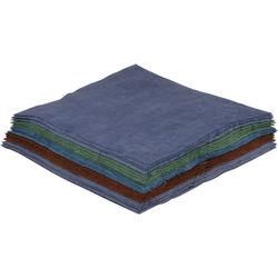 """Blue Sunprints Cyanotype Cotton Squares - 6 x 6"""" (25 Pack, Mixed Colors)"""