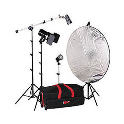 Smith-Victor K64 3-Light 1000 Watt Quartz Portrait Kit (120V)