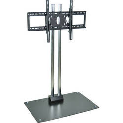 """H. Wilson WPSMS62CH  62"""" Flat Panel Display Stationary Floor Stand  (Chrome)"""