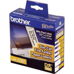 Brother DK1203 File Folder Paper Labels (300 Labels)