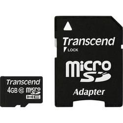 Transcend 4GB Premium microSDHC Memory Card with SD Adapter