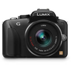 Panasonic Lumix DMC-G3 Mirrorless Micro Four Thirds Digital Camera with G Vario 14-42mm f/3.5 - 5.6 Lens (Black)
