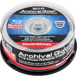 Delkin Devices Blu-ray 200 Year Disc - 25PC Spindle
