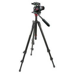 Manfrotto MH055M8-Q5 Photo-Movie Tripod Head with 755XB Aluminum Video Tripod Kit