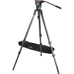 Sachtler Telescopic Tripod TT 75/2 CF with FSB 6 Fluid Head