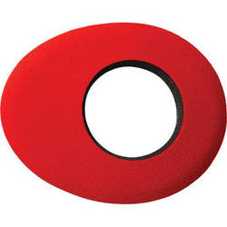 Kinotehnik Blue Star Oval Small Eye Cushion for Professional Viewfinders, Red Microfiber