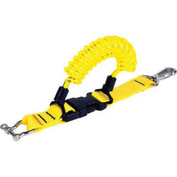 """Beneath the Surface Coil Lanyard 36"""" with Stainless Steel Hardware (Yellow)"""