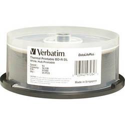Verbatim BD-R DL 50GB 6X DataLifePlus White Thermal Hub Printable (25 Discs)